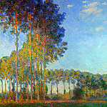 Poplars on the Banks of the River Epte, Seen from the Marsh, 1891-92. jpeg, Клод Оскар Моне