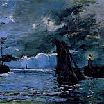 Seascape, Night Effect, Claude Oscar Monet