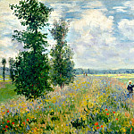 Poppy Field, Argenteuil, Claude Oscar Monet