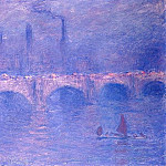 Waterloo Bridge, Hazy Sun, Claude Oscar Monet