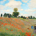 Poppies Near Argenteuil, Claude Oscar Monet
