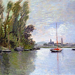 Argenteuil Seen from the Small Arm of the Seine, Claude Oscar Monet