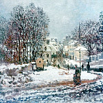 Клод Оскар Моне - The Grand Street Entering to Argenteuil, Winter