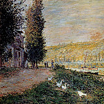 Claude Oscar Monet - The Banks of the Seine, Lavacourt