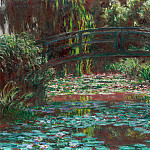 Claude Oscar Monet - The Japanese Bridge (The Bridge over the Water-Lily Pond)