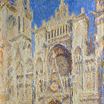 Rouen Cathedral, Portal in the Sun , Claude Oscar Monet