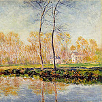 The Banks of the River Epte at Giverny, Claude Oscar Monet