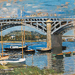 The Bridge over the Seine, Claude Oscar Monet