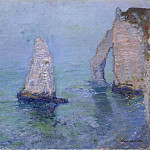 The Rock Needle and Porte d'Aval, Etretat. 1885, Клод Оскар Моне