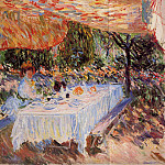 Luncheon under the Canopy, Claude Oscar Monet