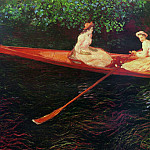 The Pink Skiff, Boating on the Ept, Claude Oscar Monet