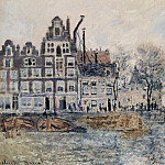 Claude Oscar Monet - View of Amsterdam