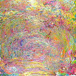 Claude Oscar Monet - Path under the Rose Trellises