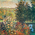 Claude Oscar Monet - Roses in the Hoshede`s Garden at Montregon