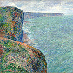 The Sea Seen from the Cliffs of Fecamp, Claude Oscar Monet