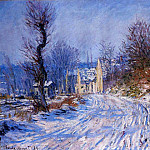 Road to Giverny in Winter, Claude Oscar Monet