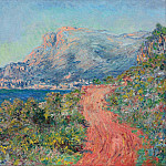 The Red Road near Menton, Клод Оскар Моне