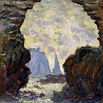 The Rock Needle Seen through the Porte d'Aumont, Claude Oscar Monet