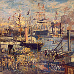 The Grand Dock at Le Havre , Claude Oscar Monet