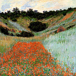 Poppy Field in a Hollow near Giverny, Claude Oscar Monet