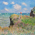 Clifftop Walk at Pourville, Клод Оскар Моне