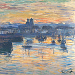 Port of Dieppe, Evening, Claude Oscar Monet