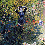Camille and Jean Monet in the Garden at Argenteuil, Claude Oscar Monet