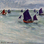 Claude Oscar Monet - Fishing Boats off Pourville