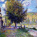 Banks of the Seine at Lavacourt, Claude Oscar Monet