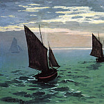 Fishing Boats at Sea, Claude Oscar Monet