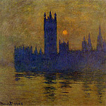 Houses of Parliament, Sunset 02, Клод Оскар Моне