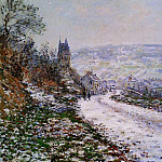 Entering the Village of Vetheuil in Winter, Claude Oscar Monet