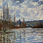 Flood of the Seine at Vetheuil, Claude Oscar Monet