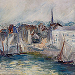 Boats in the Port of Honfleur, Claude Oscar Monet