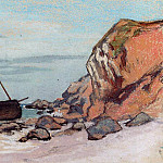 Saint-Adresse, Beached Sailboat, Claude Oscar Monet