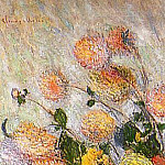 Vase of Dahlias, Claude Oscar Monet