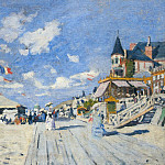 The Boardwalk on the Beach at Trouville, Claude Oscar Monet