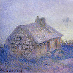Claude Oscar Monet - Customs House at Varengeville in the Fog