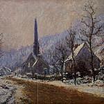 Claude Oscar Monet - Church at Jeufosse, Snowy Weather