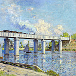 The Railroad Bridge at Argenteuil, Claude Oscar Monet