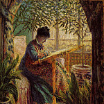 Camille Embroidering, Claude Oscar Monet