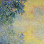 Misty Morning on the Seine, Sunrise, Claude Oscar Monet