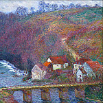 The Grande Creuse by the Bridge at Vervy, Claude Oscar Monet