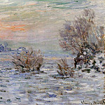 Winter on the Seine, Lavacourt, Claude Oscar Monet