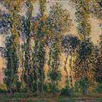 Poplars at Giverny, Claude Oscar Monet