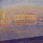 The Doges' Palace Seen from San Giorgio Maggiore, Venice, Claude Oscar Monet