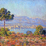 Клод Оскар Моне - View of Antibes from the Notre-Dame Plateau