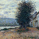 The Banks of the Seine at, Claude Oscar Monet
