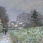 Snow at Argenteuil 02, Клод Оскар Моне