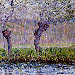 Claude Oscar Monet - Willows in Springtime